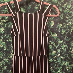 By&by striped Flare leg jumpsuit